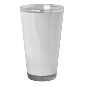 17oz Latte Glass white panel