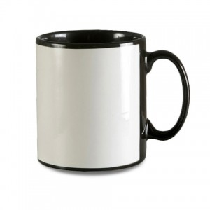 11oz Durham Black Mug with White Panel