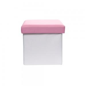Kids Storage Stool Pink