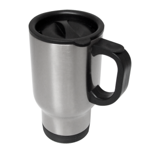 Stainless Steel 14oz Travel Mug Silver