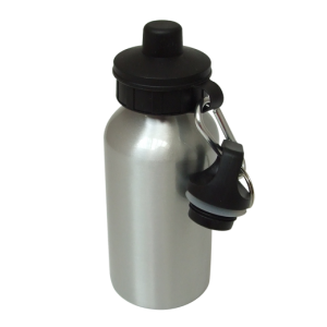 Aluminium Water Bottle 400ml Silver