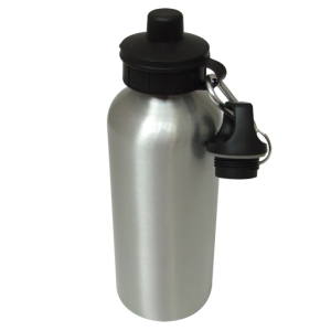 Aluminium Water Bottle 600ml Silver