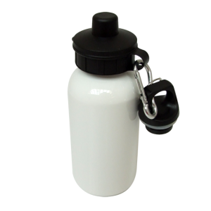 Aluminium Water Bottle 400ml White