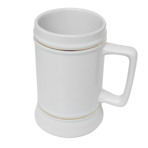 Beer Stein Mug with Gold Trim