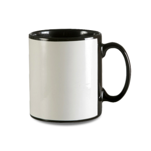10oz Durham Black Mug with White Panel