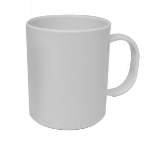 11oz White Plastic Mug