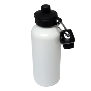 Aluminium Water Bottle 600ml white